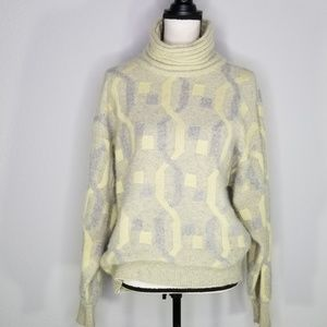 Vintage Juliana Knits angora turtleneck sweater